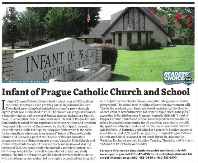 Infant Of Prague Catholic School About Us